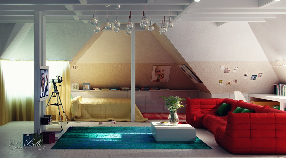 Bedroom-lounge-attic-space