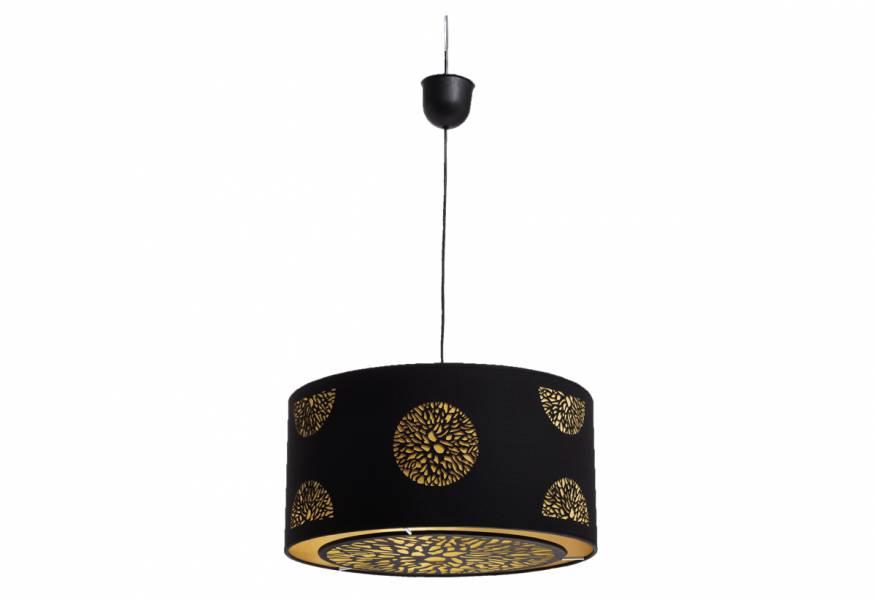 Κρεμαστό φωτιστικό Luis Round Φ. 30 cm Μαύρο/Χρυσό